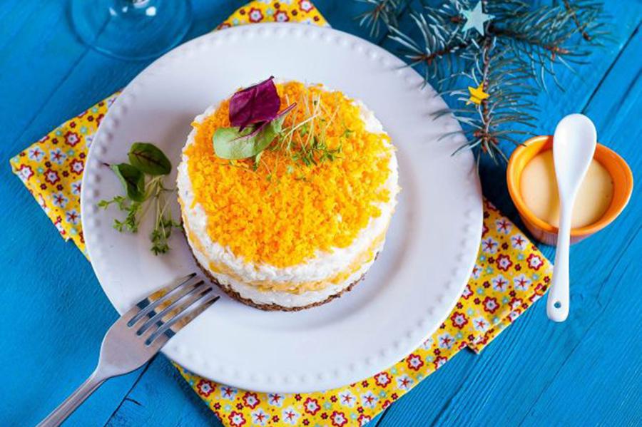 салат новогодний из печени