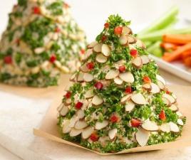 новогодний салат Елочка из сыра, украшение новогоднего стола