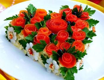 салат розовый блюз на 8 марта