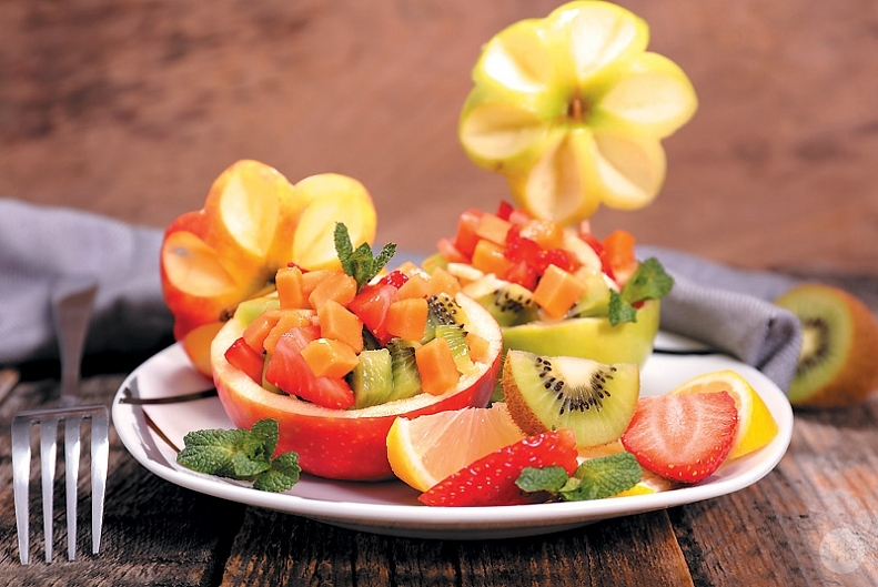 фруктовый салат, салат к 8 марта