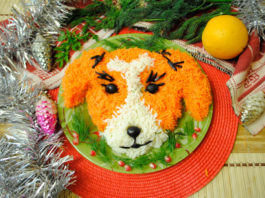 новогодний салат на год собаки
