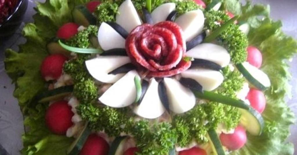 салат райский цветок