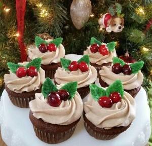 капкейк, пирожное на новый год