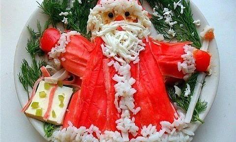 салат дед мороз на новый год