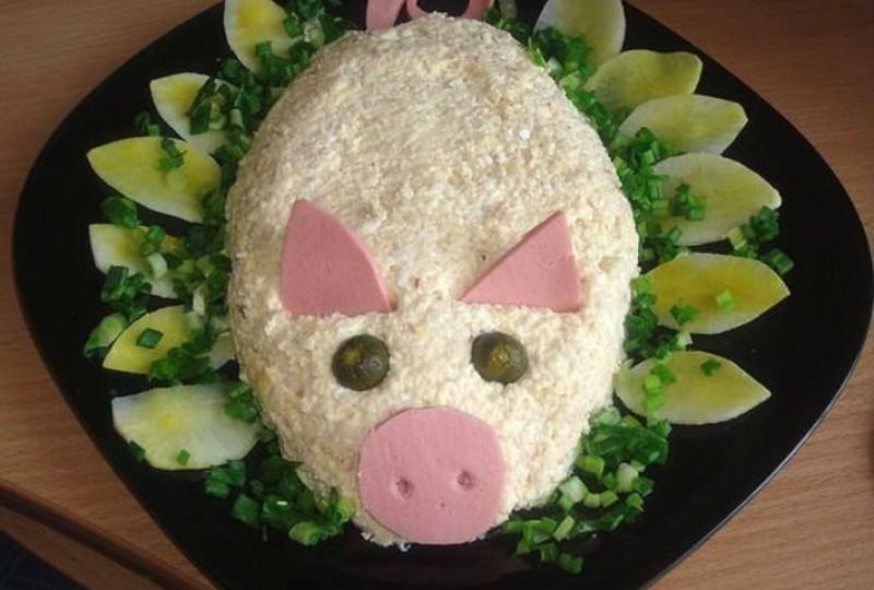 салат в год свиньи