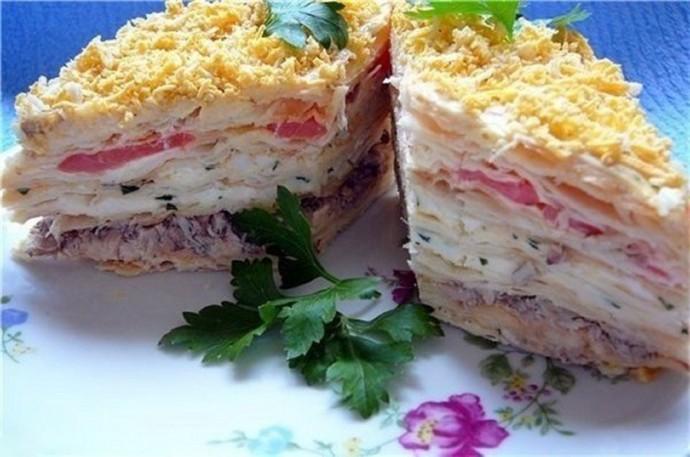 торт салат наполеон