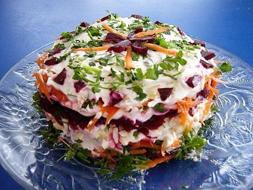 овощной салат торт