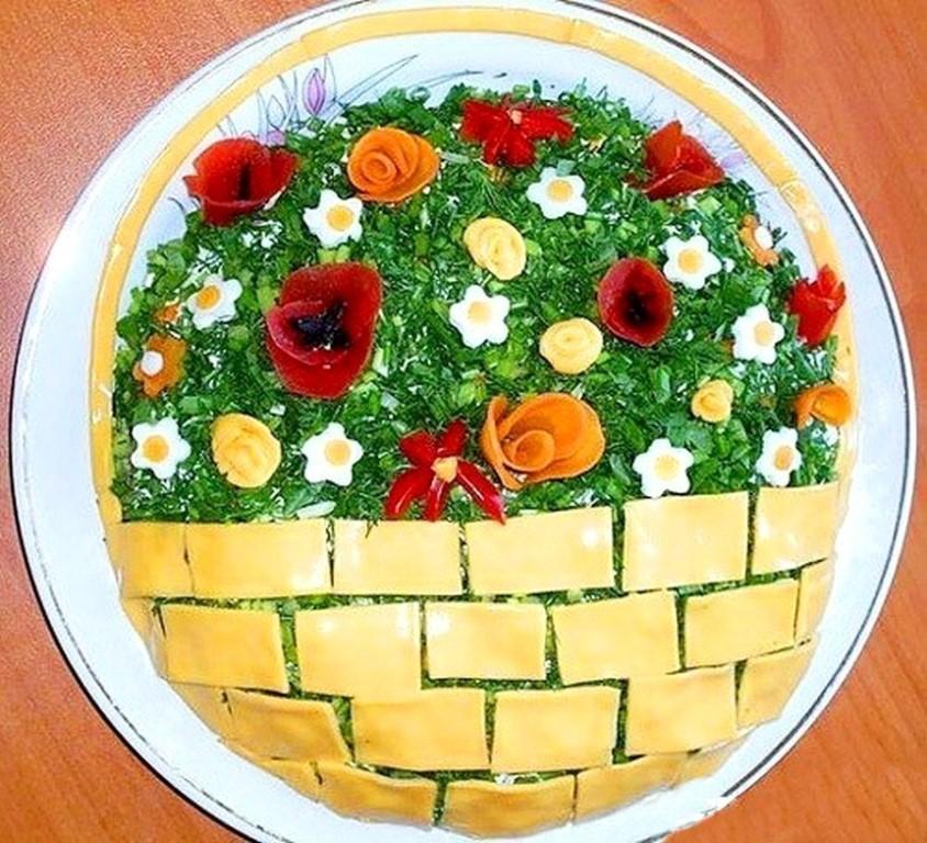 салат весенняя корзинка