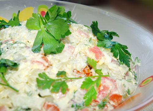 Королевский салат из семги