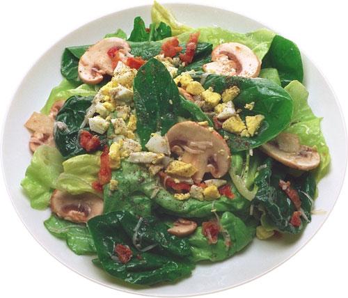 Сырный салат с шампиньонами