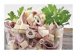 Мясной салат с картофелем